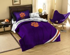 #oBedding - #The Northwest Company Clemson Twin Bedding Set - 5pc NCAA Tigers College Football Comforter and Sheets - AdoreWe.com