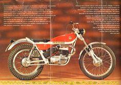1972 Bultaco Sherpa T 350 & 250 motorcycle Brochure