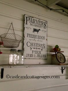 Farmers Market Sign, Farmhouse Kitchen