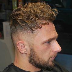 Curly Hair   Undercut   Beard