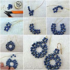 DIY Earings crafts craft ideas easy crafts diy ideas diy crafts easy diy diy jewelry fun diy craft fashion craft shirt fashion diy diy earrings craft ear rings by alana How To Make gold wire Beads or pearl jewelry Earrings step by step DIY tutorial instru Earring Crafts, Diy Crafts Jewelry, Handmade Jewelry, Jewelry Ideas, Jewelry Patterns, Beading Patterns, Crafts With Pictures, Diy Schmuck, Bijoux Diy