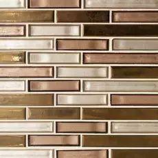 Stone Mosaic, Mosaic Glass, Removable Backsplash, Stone Backsplash, Kitchen Backsplash, Luxury Kitchen Design, Copper Kitchen, Floor Decor, Travertine