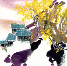 I uploaded new artwork to fineartamerica.com! - 'River Village 13' - http://fineartamerica.com/featured/river-village-13-lanjee-chee.html