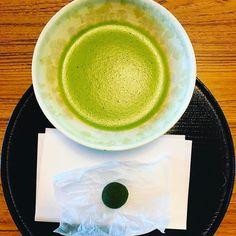 Matcha time.  #matcha #kyoto #greentea #garden #relaxation #peace #tea