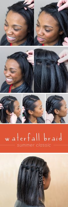 Step-by-step: How to get the perfect waterfall braid for any hair type.