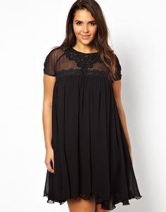 Lipstick Boutique - Swing Dress with Lace Yoke