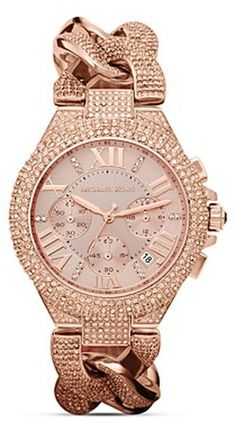 Michael Kors rose gold crystal encrusted watch! Luxe to the extreme-- OOHHHH MY!!!!!!!!!!!!!!!