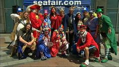 The gang's all here at the Seafair 2012 kickoff ceremony!