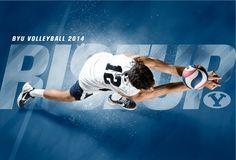 BYU Men's Volleyball 2014. Design by Dave Broberg