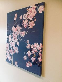 Original Acrylic Painting on canvas Flowers with