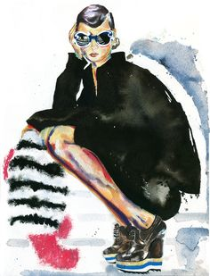 Minimal Barroque Sunglasses   Marcela Gutiérrez  #illustration