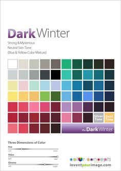 Colors for a Dark Winter Women www.inventyourimage.com