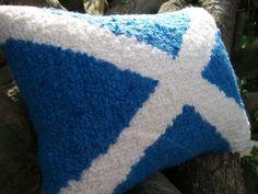Scottish Saltire Flag Decorative Cushion / Pillow  by WoollyLakes, £35.00