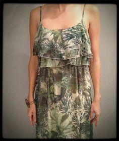 Vestido longo  verde estampado - Tamanho G/44 - MasQachado!