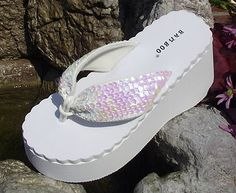 beach wedding slippers