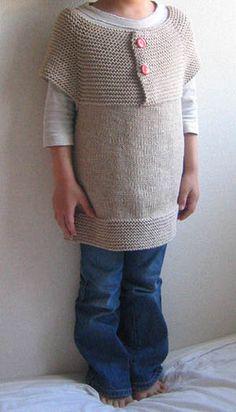 top down, garter stitch yoke vest by naganasu knit, child's knitting pattern