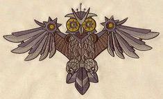 Clockwork Owl design (UT4046) from UrbanThreads.com