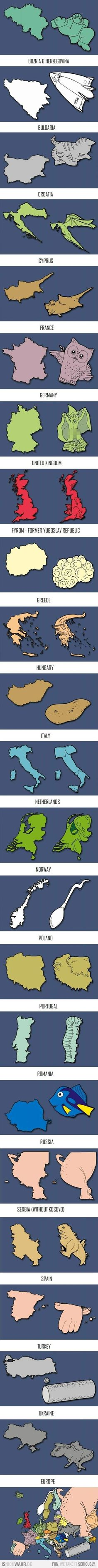 Funny pictures about Europe according to creative people. Oh, and cool pics about Europe according to creative people. Also, Europe according to creative people. Teaching Geography, World Geography, Geography Lessons, Teaching Kids, Chuck Norris, European Countries, Creative People, Smart People, Best Funny Pictures