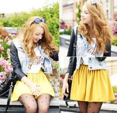 Lemon skirt>> http://www.romwe.com/lemon-jersey-skater-skirt-p-40187.html