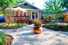 Time to get rid of the turf! backyard landscape ideas no grass