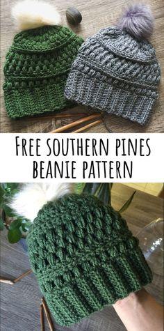 8040183e676 Southern Pines Beanie Pattern – DandyLemon Beanie Crochet Pattern Free
