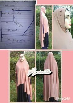 Pola hijab - Her Crochet Niqab Fashion, Islamic Patterns, Hijab Tutorial, Mode Hijab, Scarf Styles, Clothing Patterns, Dress Up, Crochet, Womens Fashion