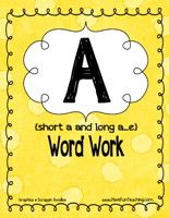 this site has tons of cute word work activities- love this one for short a and long a...e