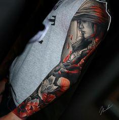 A képen a következők lehetnek: 2 ember Wicked Tattoos, Cool Arm Tattoos, Badass Tattoos, Leg Tattoos, Black Tattoos, Body Art Tattoos, Tattoos For Guys, Tattoo Ink, Japanese Tattoo Art