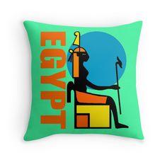 """EGYPT"" Throw Pillows by IMPACTEES   Redbubble"