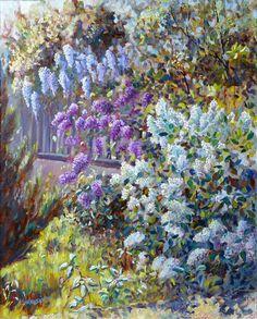 Sculpture, Lilacs, Porches, Cottages, Plants, Blog, Gardens, Painting, Wisteria Tree