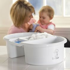 Tippitoes Top & Tail Bowl: The Top and Tail Bowl is ideal for in between bath times and for changing, whenever and wherever. The bowl comprises of three compartments, two larger and one smaller. Baby Bath Time, Baby Room Design, Baby Pictures, Bathroom Accessories, Bathing, Bowls, Larger, Fun, Times