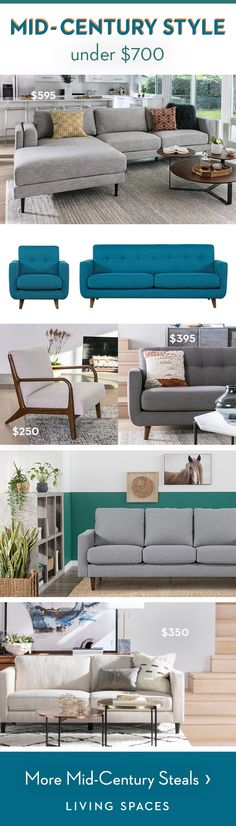 Mid-Century Modern Furniture | get a chic retro look for way less with our fun, mid-century sofa designs. Amazing steals on sofas, sectionals, chairs & more that don't sacrifice on style or quality, thanks to impeccably tailored, solidly constructed details and durable, low-maintenance fabric.