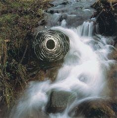 Andy Goldsworthy intègre le mouvement de la nature à ses créations.