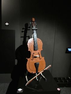A cello in LEGO. Art work by Nathan Sawaya -- all made from LEGO bricks! Lego Brick, Cello, Bricks, Art Work, Music, Artwork, Musica, Work Of Art, Musik