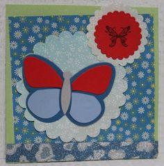 Gemaakt door Sophie # kaart met vlinder