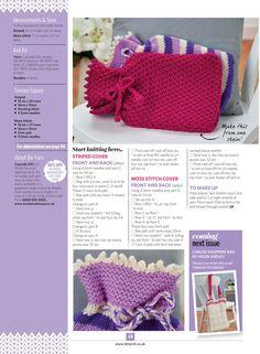 Let's Knit №114 2017 - 轻描淡写 - 轻描淡写 Moss Stitch, Knitting Kits, Tea Cozy, How To Start Knitting, Crochet Hats, Blanket, How To Make, Knitting Hats, Rug