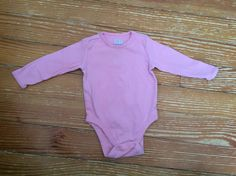 Old Navy 6-12 months pink long sleeve onesie