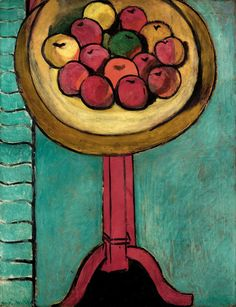 Henri Matisse (French, 1869–1954) Bowl of Apples on a Table, 1916 Oil on canvas; 45 1/4 x 35 1/4 in. (114.9 x 89.5 cm)