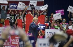Oct 22. Pennsylvania Republicans sue to allow poll watchers to cross county lines - The Washington Post caption: Donald Trump makes his way offstage after a rally Friday at the Cambria County War Memorial Arena in Johnstown, Pa. (Mandel Ngan/AFP via Getty Images)