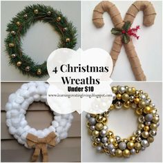 Learning, Creating, Living.: 4 Christmas Wreaths