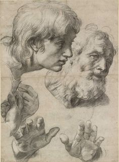 Raphaël - Raffaello - Rafael - Renaissance - Studies for the Transfiguration Renaissance Kunst, High Renaissance, Renaissance Artworks, Italian Renaissance Art, Life Drawing, Painting & Drawing, Painting Canvas, The Transfiguration, Alphonse Mucha