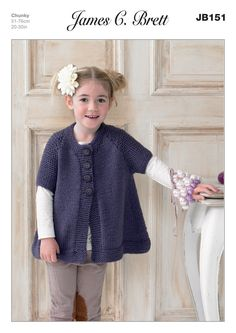 a22d482c9 Athenbys James C Brett Knitting Pattern Girls Waistcoat Chunky