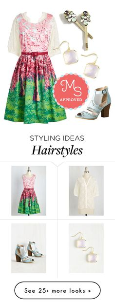 """Festive Frondescence Dress in Spring"" by modcloth on Polyvore"