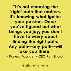 It's Not About Choosing the 'Right' Path {QUOTE}