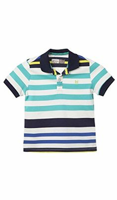 OFFCORSS Jersey Polo Shirt for Toddler Boys Clothing Kids Clothes Striped Blue Camisetas tipo Polo Ropa de Niños Bebe Azul 2T *** Find out more about the great product at the image link.