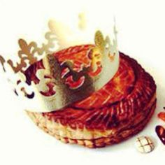 """Galette of Kings: The French mark the 12th day Christmas or the feast of Ephiphany, by scoffing down one final pastry - known as the galette des rois or """"cake of kings"""". Inside the cake is hidden a charm known as a fève. Whoever finds it in their portion is a king or queen and wins the right to wear the crown and choose their partner. This ritual may sound daft, but it's still taken very seriously."""