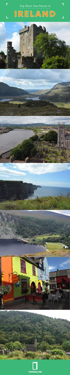 Top Must-See Places In Ireland #infograpic   Off the beaten path.