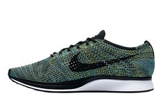 Get ready for the Nike Flyknit Racer Blue Glow as this silhouette is scheduled to hit shelves soon. While we've seen several high profile colourways in the last year, few have been more eye-catching than this pair. A fused theme of green and blue...