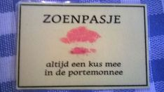 Moederdag - zoenpasje: altijd een kus mee in de portemonnee:
