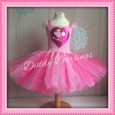 Peppa Pig Tutu Dress. Sparkly Peppa Pig Tutu Dress. Beautiful & lovingly handmade.  All characters and colours available Price varies on size, starting from £25.  Please message us for more info.  Find us on Facebook www.facebook.com/DiddyDarlings1 or our website www.diddydarlings.co.uk